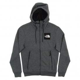Fine Full Zip Hoodie TNF Dark Grey Heather