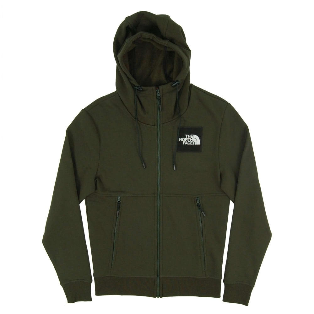 The North Face Fine Full Zip Hoody Rosin Green - Mens Clothing from ... c98a2e4327fc