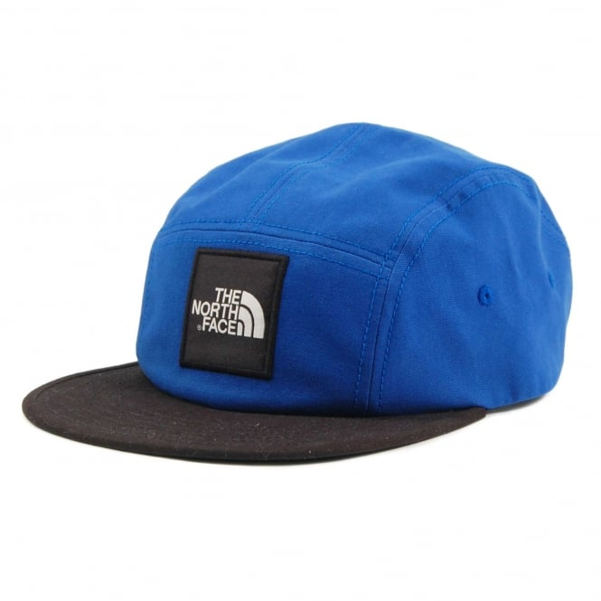 The North Face Five Panel Ball Cap Bright Cobalt Blue TNF Black