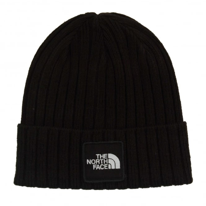 The North Face Logo Boxed Cuffed Beanie TNF Black