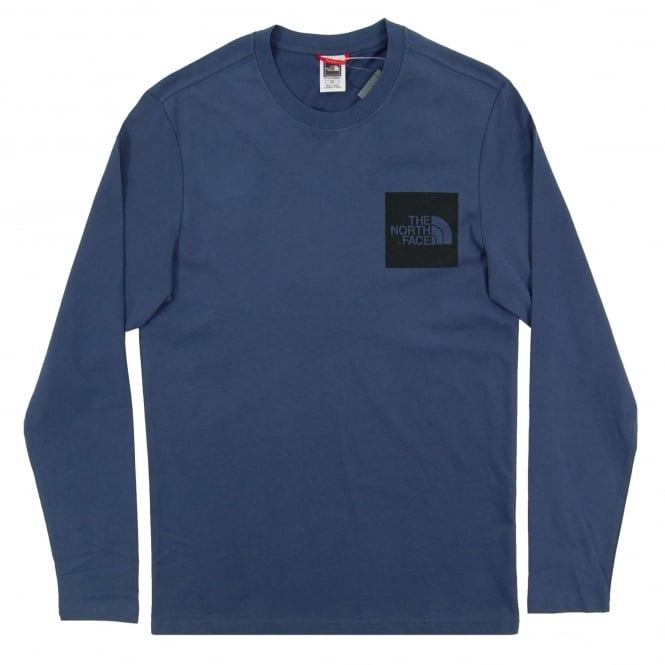 The North Face LS Fine T-Shirt Blue Wing Teal
