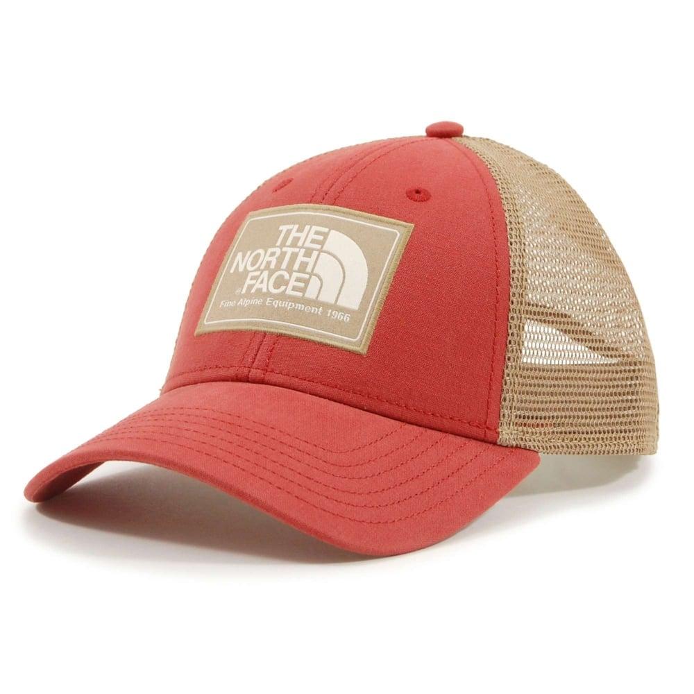 3866506faf4f31 The North Face Mudder Trucker Hat Bossa Nova Red Kelp Tan Vintage ...