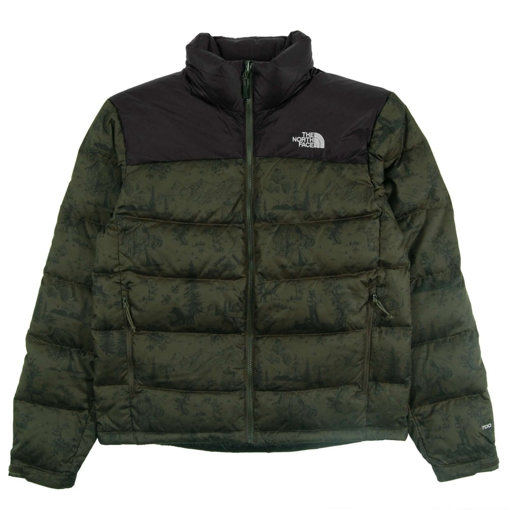 f239537c88 The North Face Nuptse 2 Jacket Black Ink Green Toile De Jouy - Mens  Clothing from Attic Clothing UK