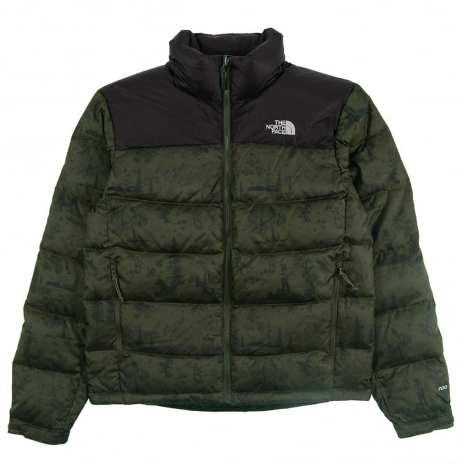 the north face nuptse 2 jacket black ink green toile de. Black Bedroom Furniture Sets. Home Design Ideas