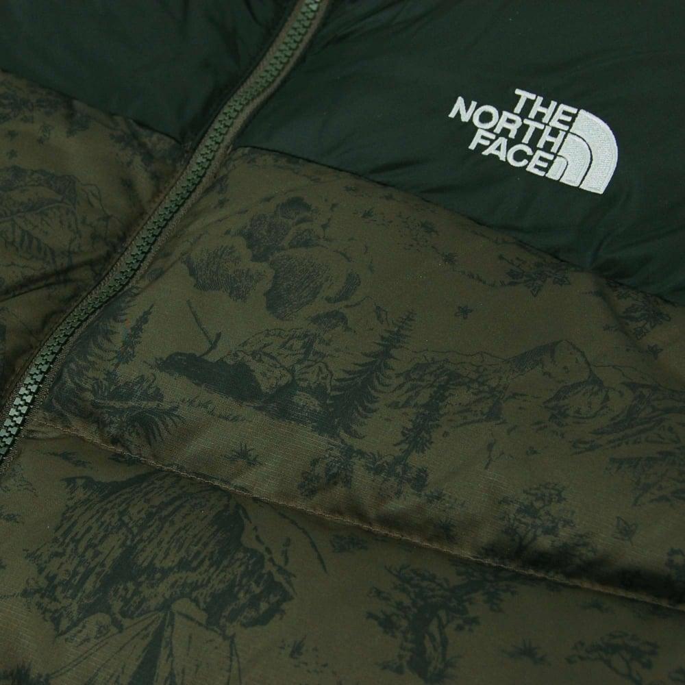 e7735895ac9 The North Face Nuptse 2 Jacket Black Ink Green Toile De Jouy - Mens ...