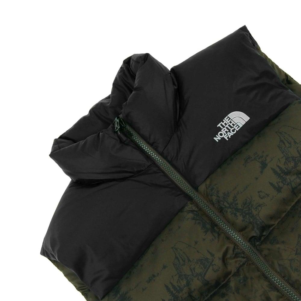 The North Face Nuptse 2 Vest Black Ink Green Toile De Jouy - Mens ... 8b3d51df74ce