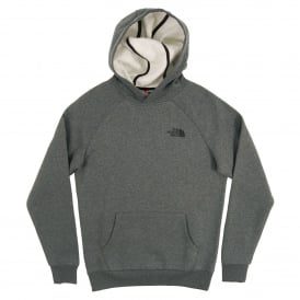 Raglan Red Box Hoodie TNF Medium Grey Heather