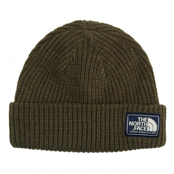 The North Face Salty Dog Beanie New Taupe Green Burnt Olive