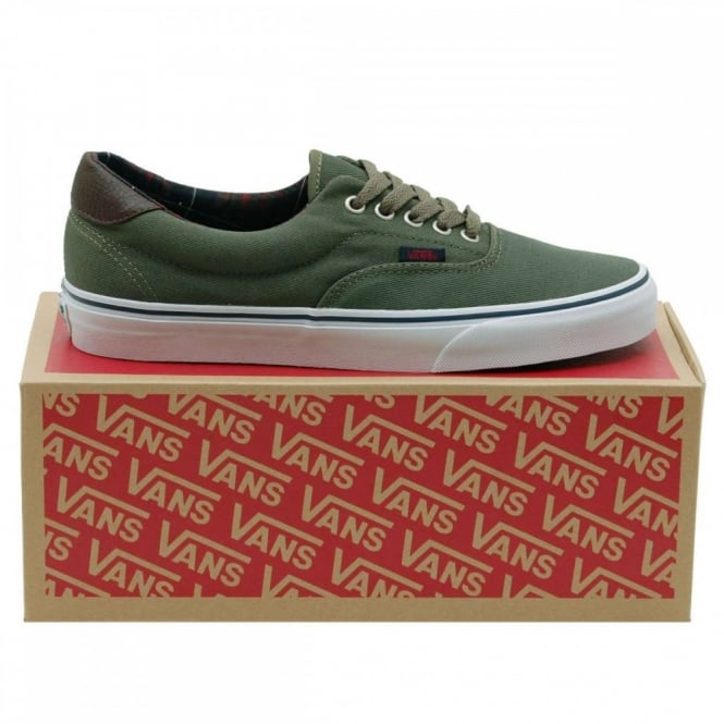 Vans Era 59 Plaid Ivy Green - Mens Clothing from Attic Clothing UK c13b2e297d