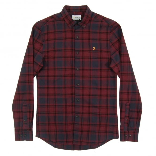 Farah Waithe Check Shirt Red