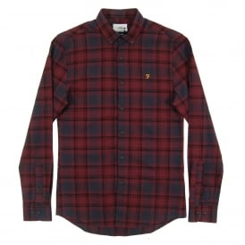 Waithe Check Shirt Farah Red